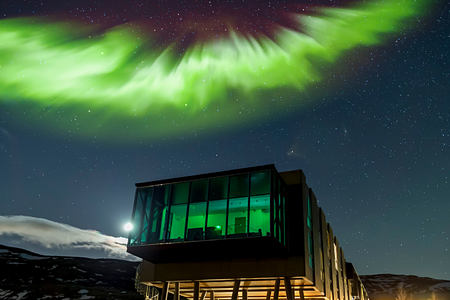 Northern Lights at Ion Hotel Iceland