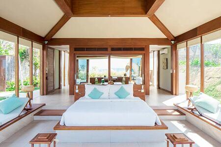 Ocean View Pool Villa bedroom at Fusion Resort Cam Ranh Vietnam