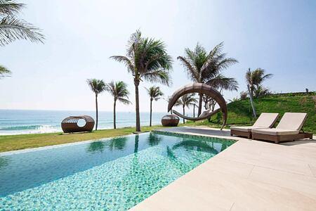 Ocean front pool villa at Fusion Resort Cam Ranh Vietnam