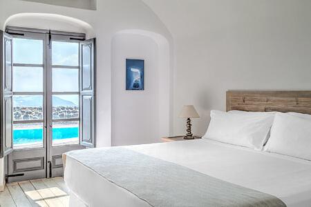 Olympian Villa Bedroom at Vedema Santorini Greece
