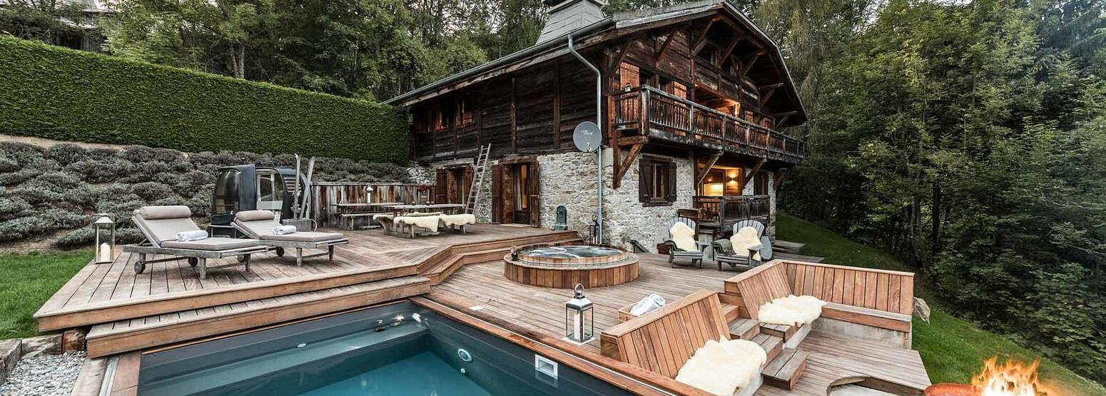 Outdoor pool at Ferme de Moudon France