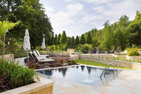 Outdoor pool at Lucknam Park England