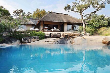Overlooking pool at Londolozi South Africa