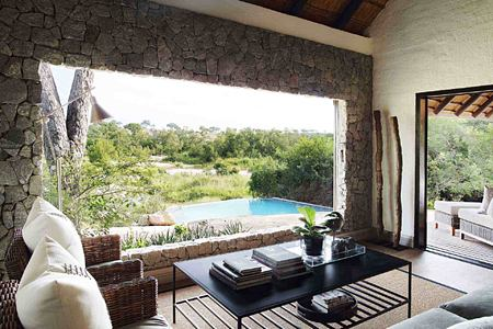 Overlooking private pool from room at Londolozi South Africa