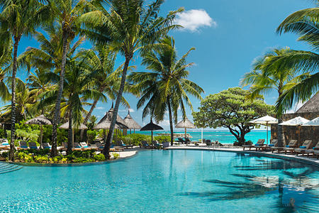 Pool Panorama at Constance Belle Mare Mauritius