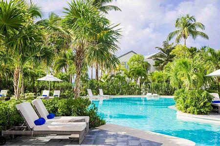 Pool and chairs at Carlisle Bay Antigua