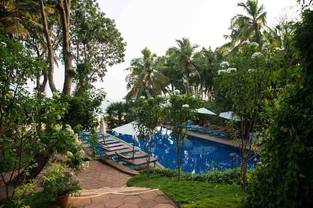 Pool and grounds at Somatheeram Kerala India