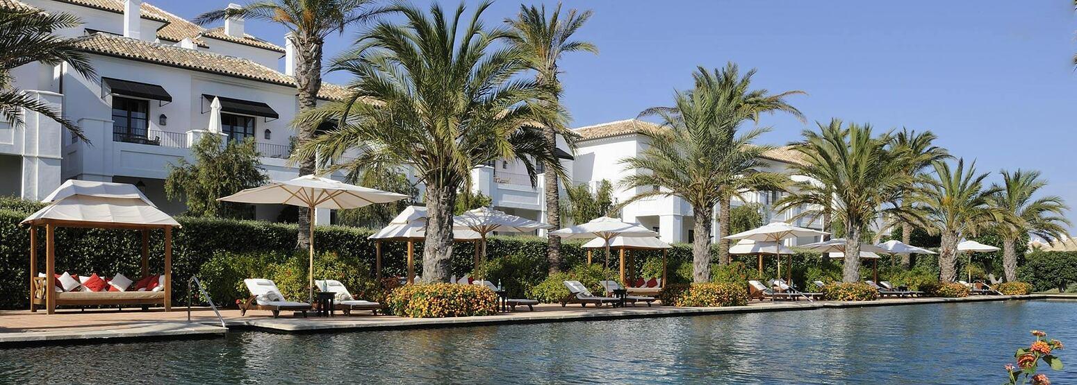 Pool and hotel at Finca Cortesin Spain