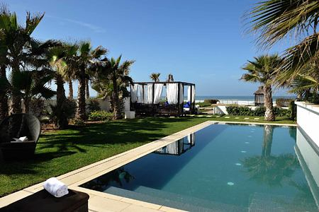 Pool and sea view at Sofitel Thalassa Agadir Morocco