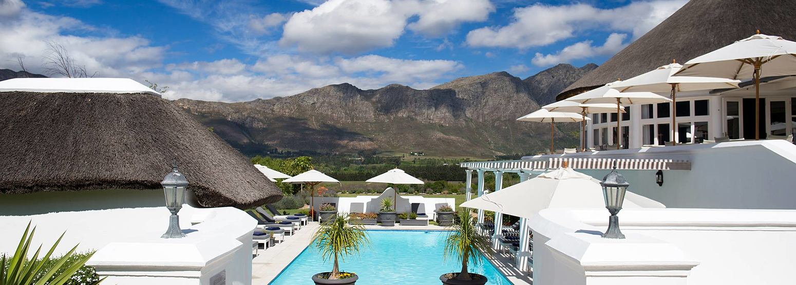 Pool at Mont Rochelle Franschhoek South Africa