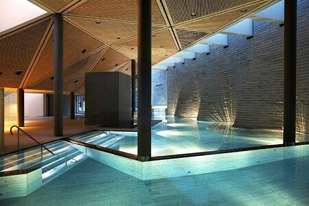 Pool at Tschuggen Grand Arosa Switzerland