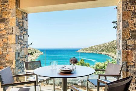 Premium Suite view at Daios Cove Crete Greece