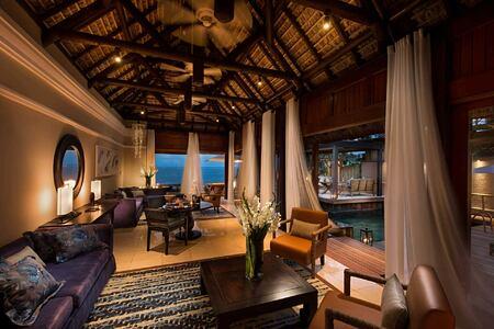 Presidentia Suite Lounge at Constance Belle Mare Mauritius