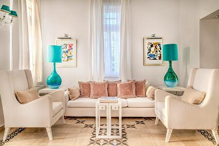 Presidential Villa Living area at Vedema Santorini Greece