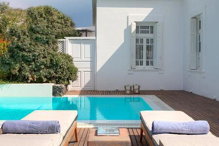 Presidential Villa private pool at Vedema Santorini Greece
