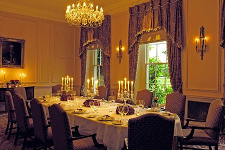 Private dining room at Lucknam Park England
