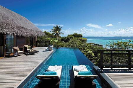 Private pool at Shangri la Villingili Maldives