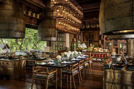 Restaurant at Four Seasons Chiang Mai Thailand