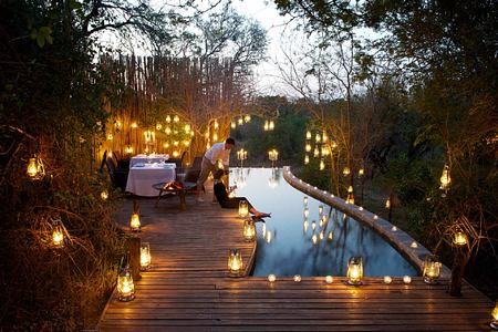 Romantic dining at Londolozi South Africa