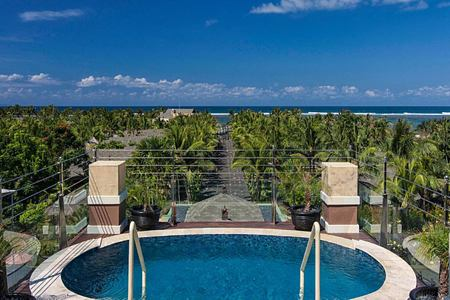 Rooftop pool with seaview at St Regis Bali Indonesia