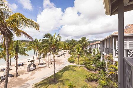Rooms overlooking the beach at Carlisle Bay Antigua