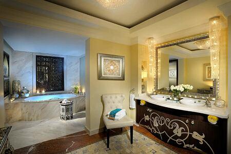 Royal Suite Master Bathroom at The Royal Mirage Dubai