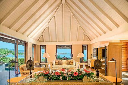 Royal Villa Living Room at Oberoi Mauritius