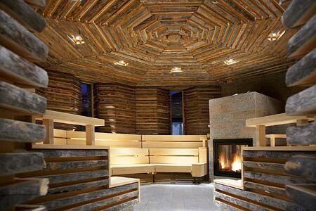 Sauna at Tschuggen Grand Arosa Switzerland
