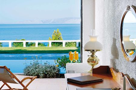 Seaview Room with shared pool at Porto Elounda Golf and Spa Crete