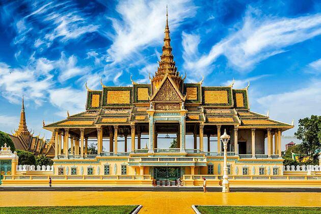 Royal Palace near Raffles Hotel Le Royal Cambodia