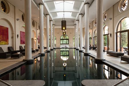 Spa pool at Terre Blanche Golf and Spa Resort France