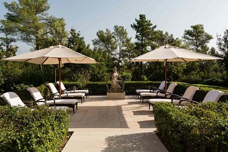 Spa terrace at Terre Blanche Golf and Spa Resort France