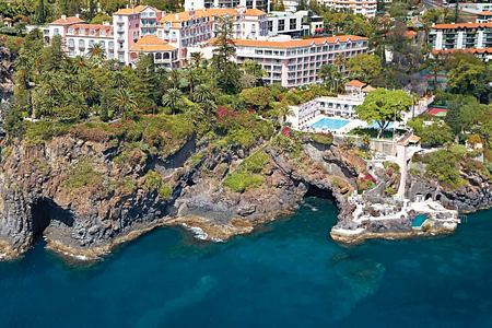 Spectacular view of headland at Belmond Reids Palace Madeira Portugal