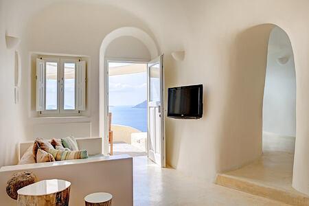 Spiritual Suite Living Area at Vedema Santorini Greece