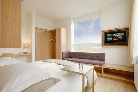Standard bedroom at Icelandair Hotel Iceland