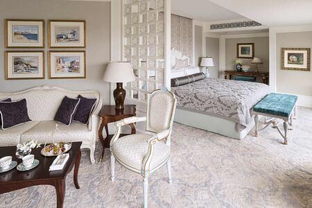 Suite Bedroom at Shangri la Bosphorus Turkey