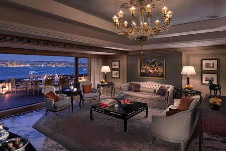 Suite Living Room at Shangri la Bosphorus Turkey