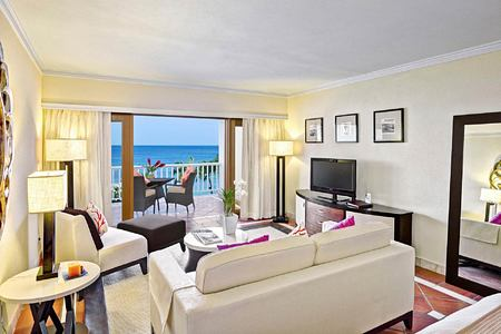 Suite living area at The House Barbados