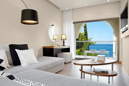 Suite with Seaview Living area at Marbella Corfu Greece