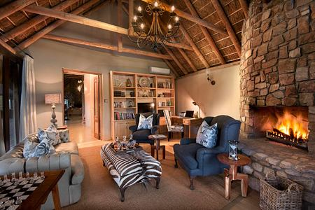 Suite with fireplace at Great Fish River Lodge South Africa
