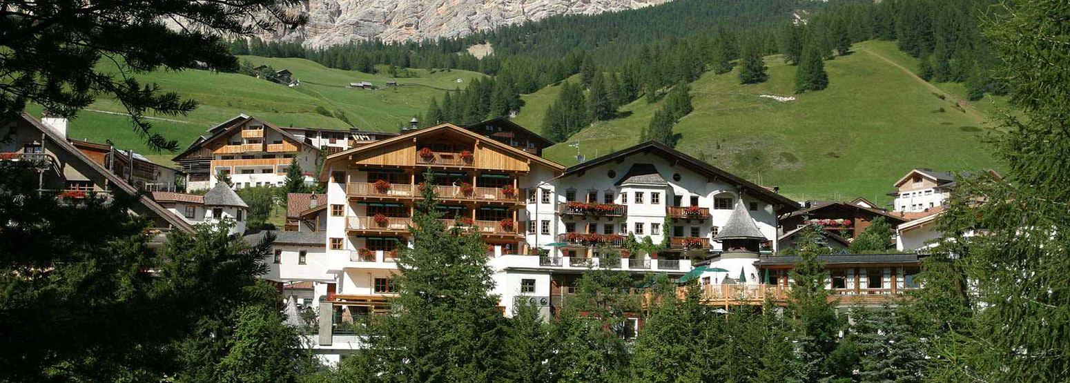 Summer view of Rosa Alpina Italy