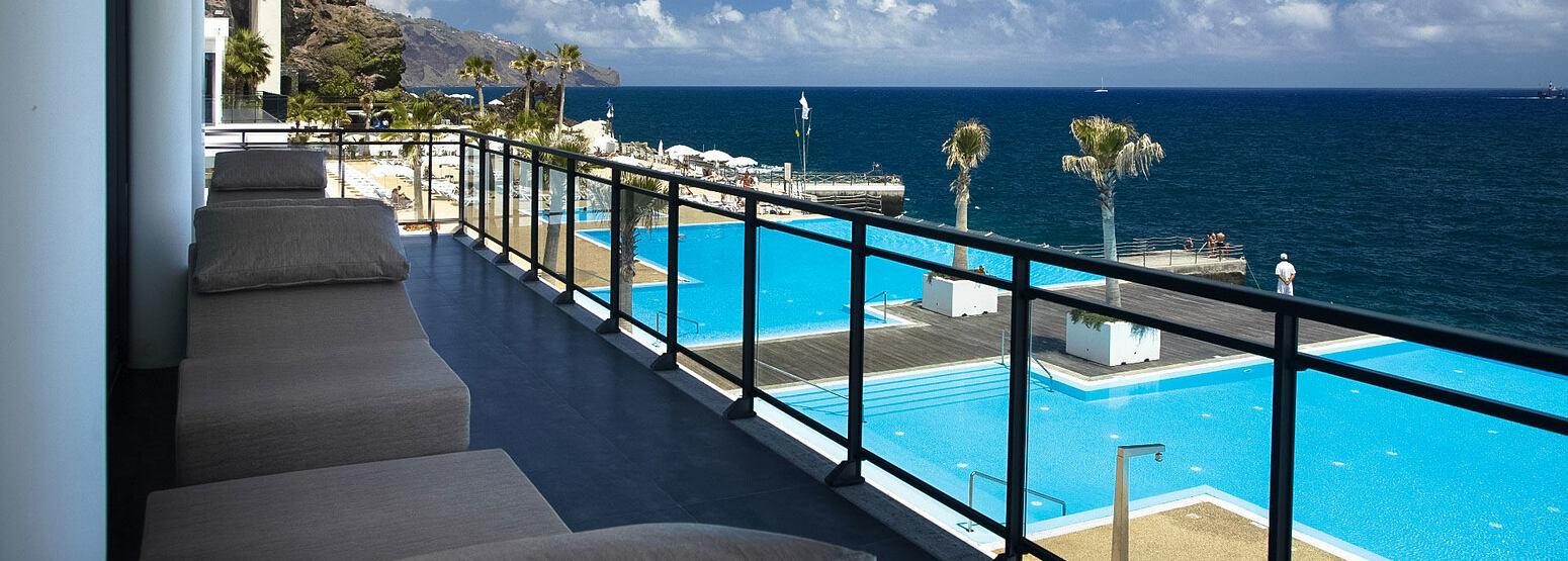 Banner of Balcony and swimming pools at Vidamar Madeira