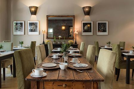 Table set in dining room at Welgelegen Guesthouse South Africa