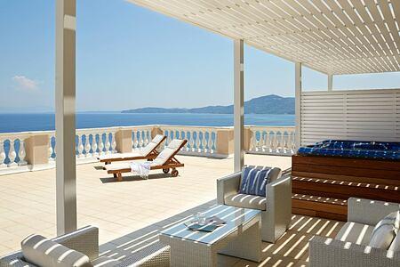 Terrace at Marbella Corfu Greece