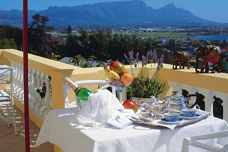 Terrace dining at Colona Castle Cape Town South Africa