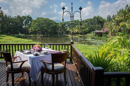 Terrace view at Four Seasons Chiang Mai Thailand