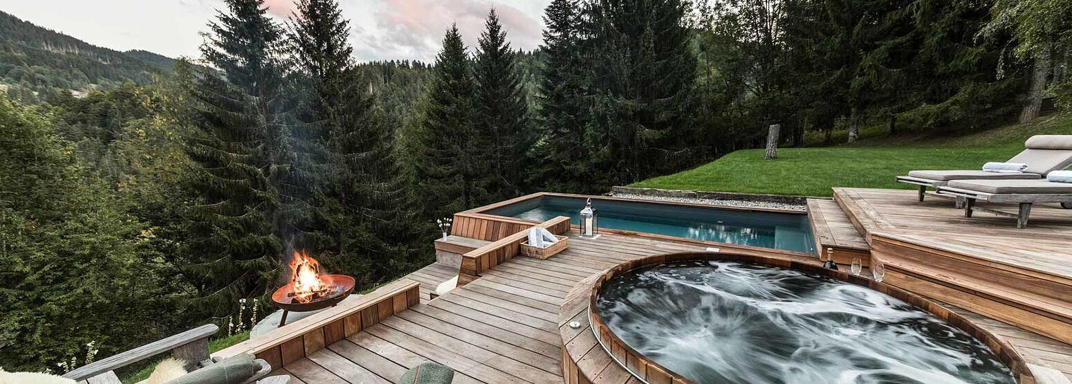 Terrace with views at Ferme de Moudon France