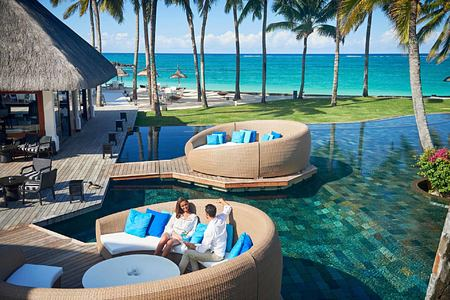 The Floating Bar at Constance Belle Mare Mauritius