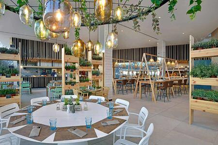The Kitchen Restaurant tables at Sol Beach House Fuerteventura