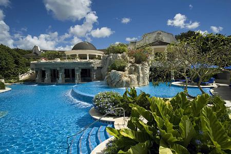 The Spa and Pool at Sandy Lane Barbados
